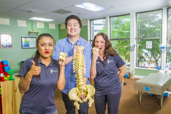 Chiropractic office staff photos