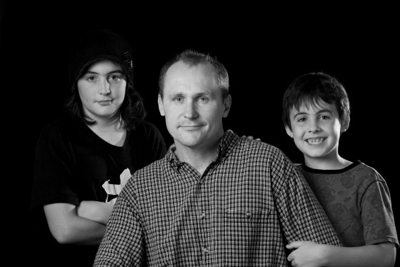 Dad and two sons - Karen Geswein