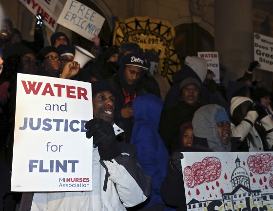 Flint Residents Protest at State Capitol