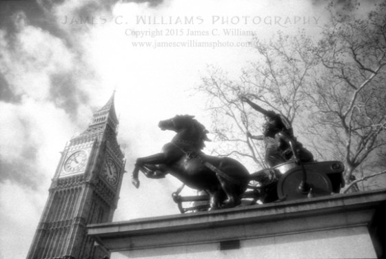Boudicca and Big Ben Infrared Film, 2006