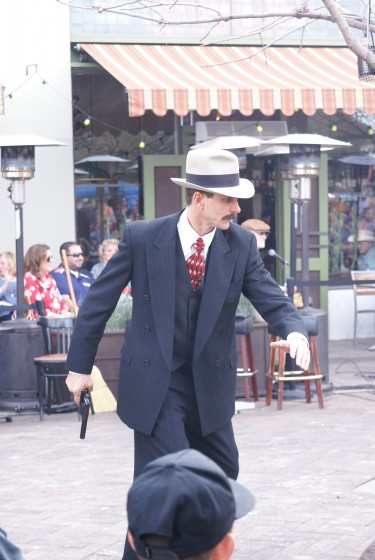 Actors reenactment of the Dillinger gang capture in Tucson Arizona.