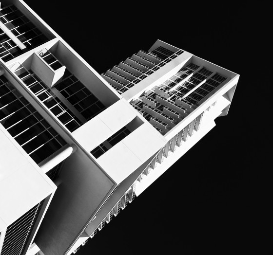 Black & white for dramatic architecture photography