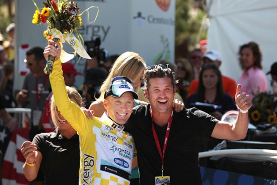 Levi Leipheimer and Patrick Dempsey for USA Cycling Pro Challenge