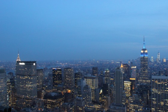 Blue hour in the Big Apple.