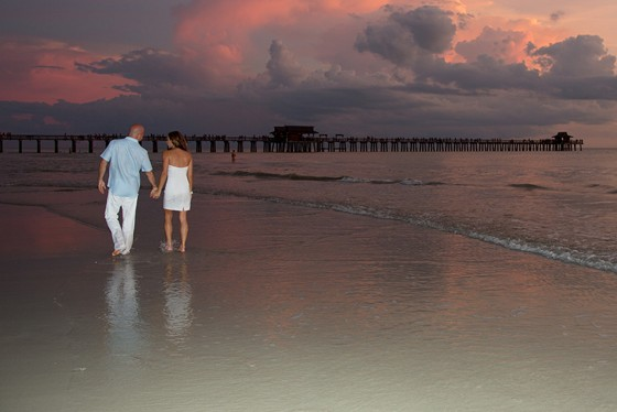 Engagement Session at the Naples Pier