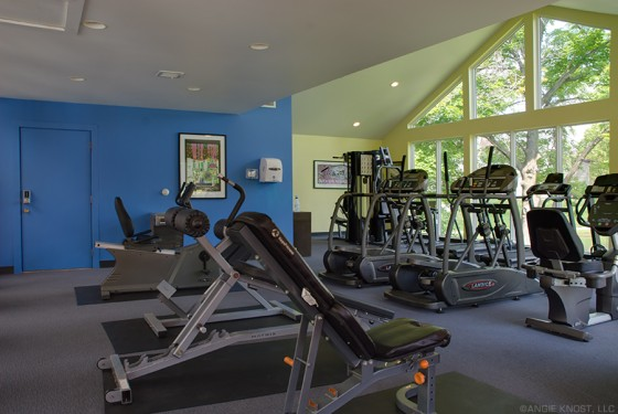 Fitness Center with Woodsy View