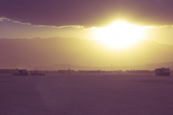 Burning Man at Sunset