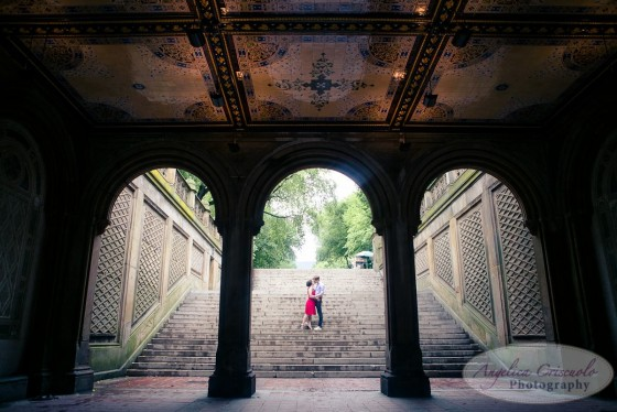 Bethesda Terrace Central Park Engagement photos