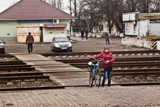 A Train Station in South Ukraine