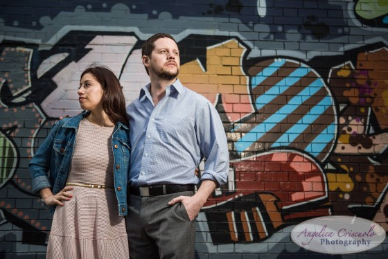 Long Island City Engagement photo ideas grafitti