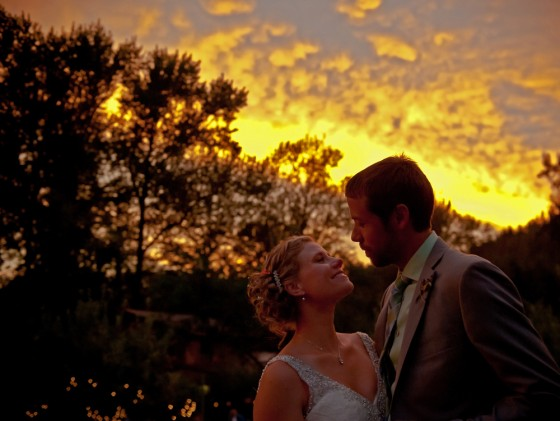 First dance at sunset.