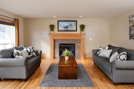 Living Room with Hardwood Floors, Real Estate
