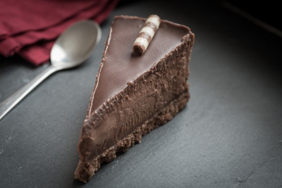 Slice of heaven - I mean chocolate cheesecake