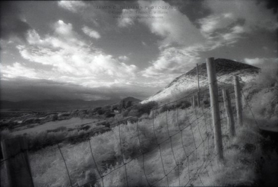 Mountain Fence, Healy Pass Co. Cork, Ireland Infrared Film, 2009