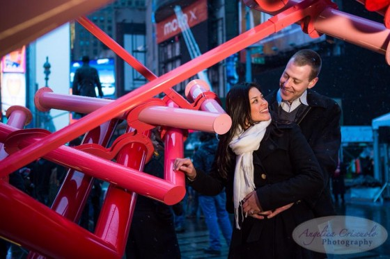 Time Square NYC Proposal photos engagement