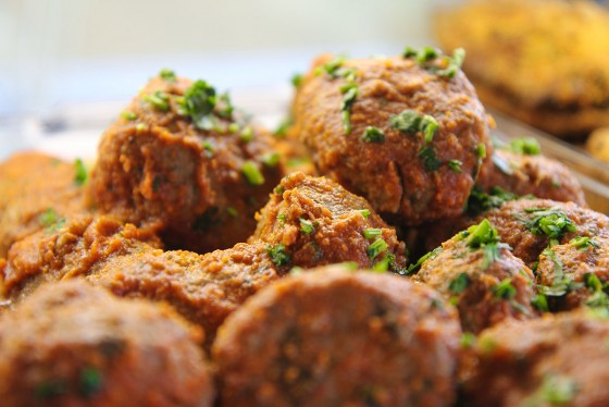 meat balls food photography