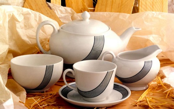 New line of porcelain tea sets, New York