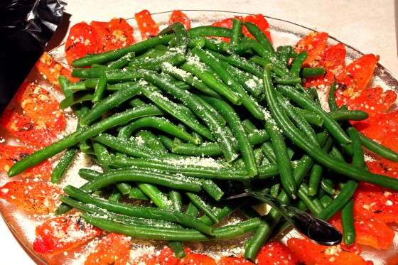 Snap Beans and Tomato with Fresh Parmesan