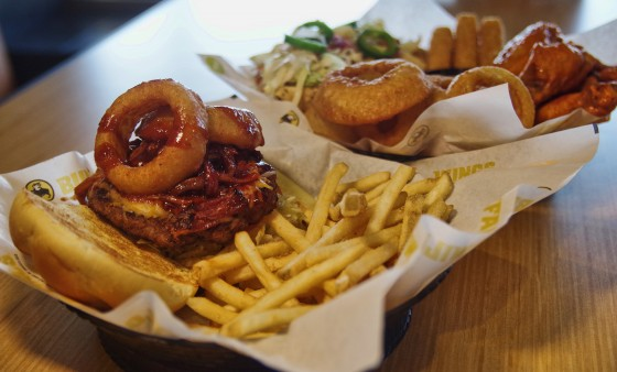 Buffalo Wild Wings - Big Jack Daddy burger and House Sampler for marketing, training and social media