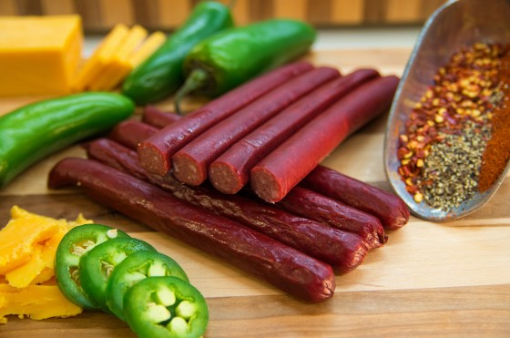 Pepper cheddar beef sticks image for e-commerce web site and lobby image - RJ's Meats