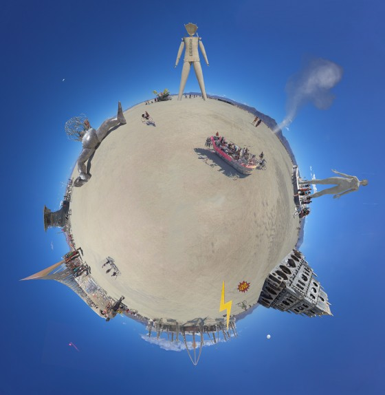 Burning man tiny planet