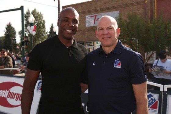 Barry Bonds and Bob Roll for USA Pro Cycling Challenge