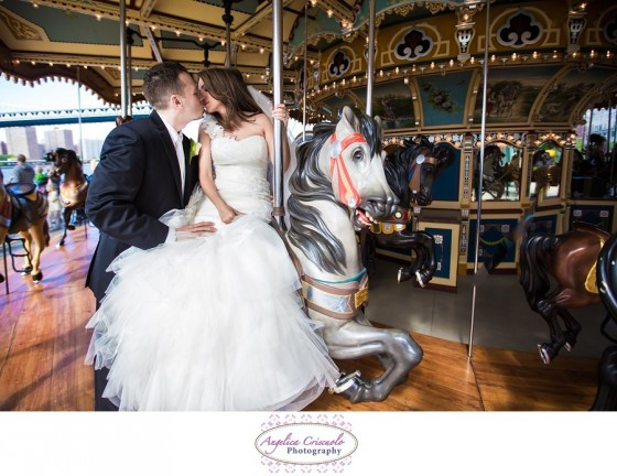 Brooklyn NY Wedding Photographer Jane's Carousel