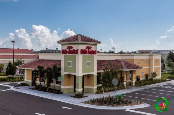 Aerial image for local Pollo Tropical restaurant.
