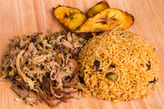 Pernil Pork Shoulder With Rice