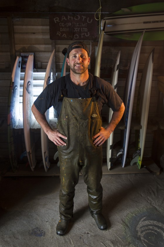 Surfboard Shaper and dairy farmer in New Zealand