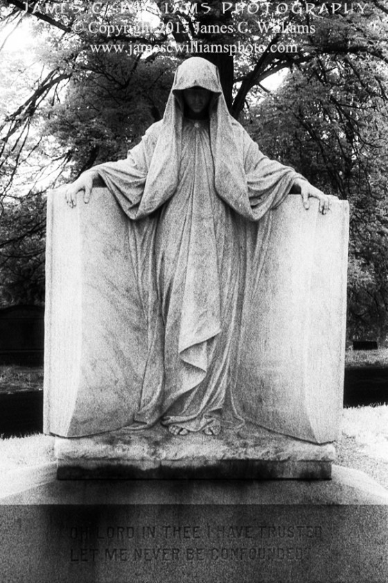 Dark Messenger Holywood Cemetery, Richmond, VA Infrared Film, 2012