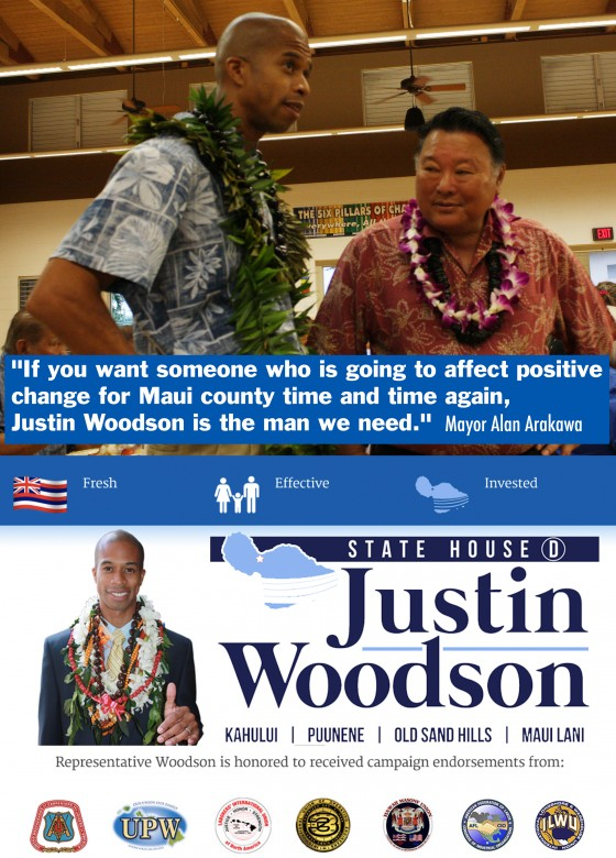 Rep. Justin Woodson Election Campaign / Maui Hawaii