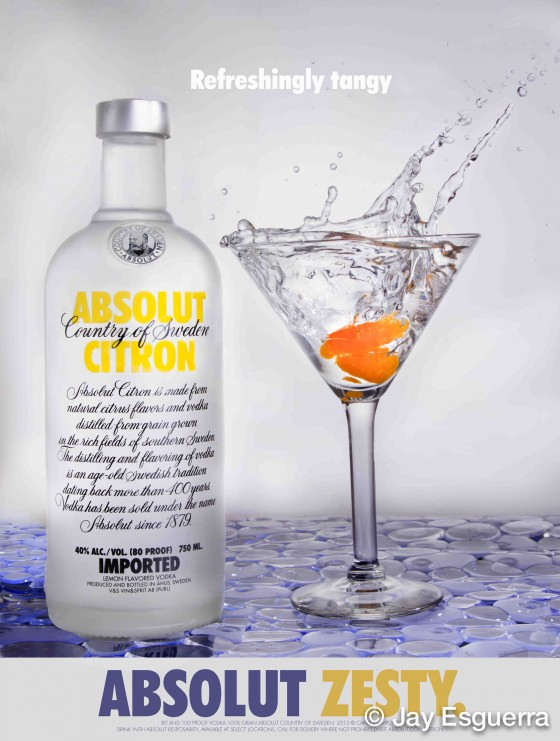 Splash Absolut Vodka Martini