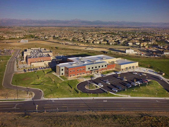 School aerial for Architect and General Contractor