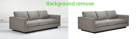 Background remove before and after