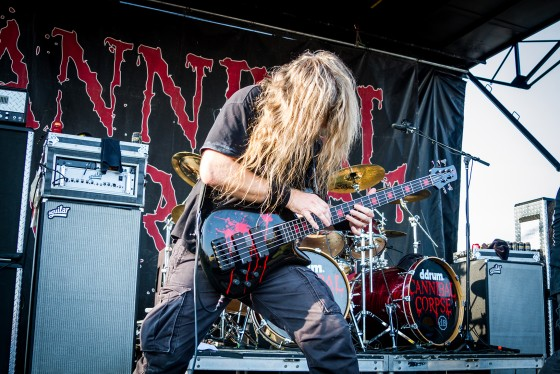 Cannibal Corpse - Mayhem Fest. This photo was published in Hysteria Magazine (an Australian rock publication).