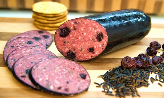 Cranberry wild rice sausage image for e-commerce web site and lobby image - RJ's Meats