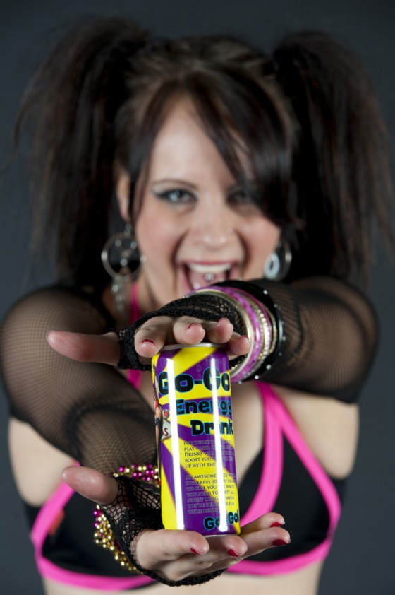 Promotional photo for energy drink company