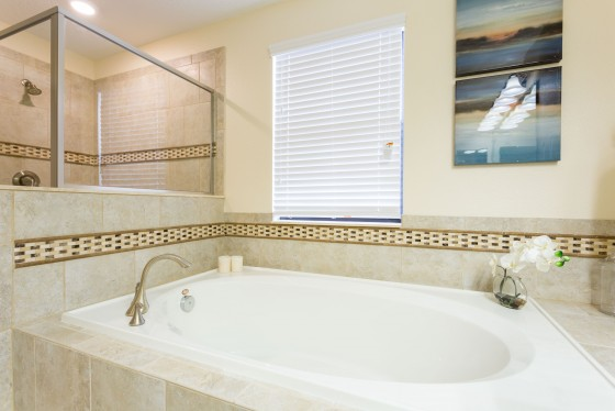 Soaker Tub in the Master Bathroom